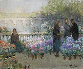 Le Quai Aux Fleurs By Pierre Eugene Montezin