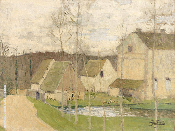 Paysage Painting By Pierre Eugene Montezin - Reproduction Gallery