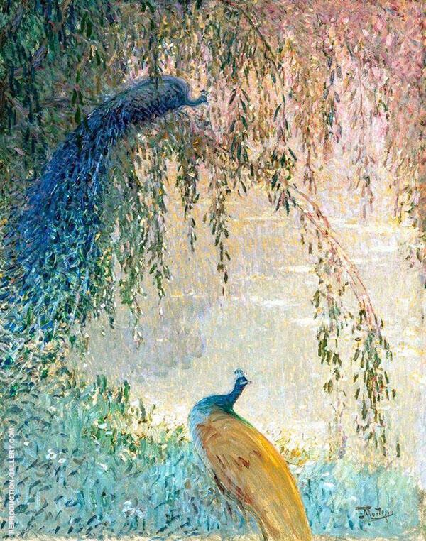 Peacocks By Pierre Eugene Montezin