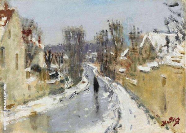 Route sous la Neige By Pierre Eugene Montezin