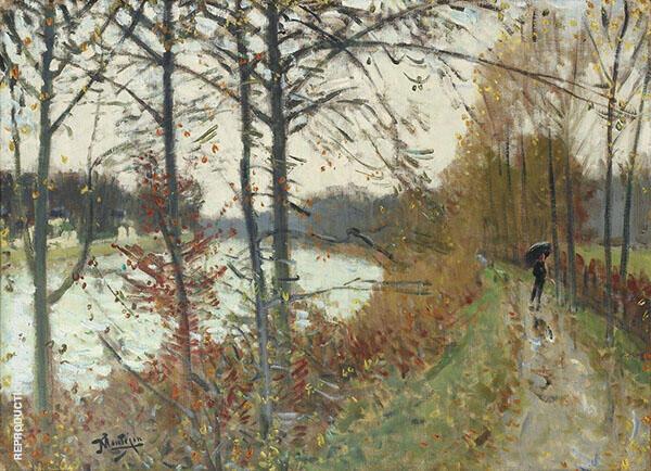Seine in Bougival Painting By Pierre Eugene Montezin