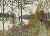 Seine in Bougival By Pierre Eugene Montezin