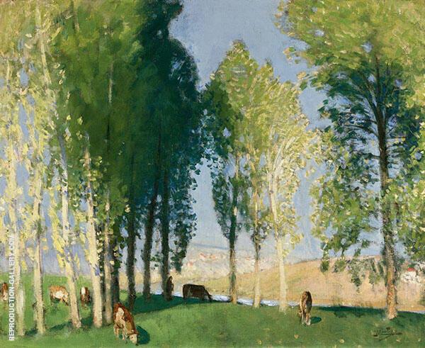 Sous-Bois Ensoleille By Pierre Eugene Montezin
