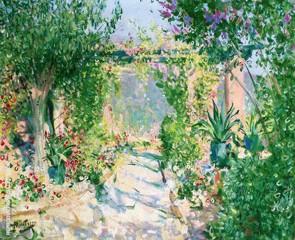 The Arbor Painting By Pierre Eugene Montezin - Reproduction Gallery