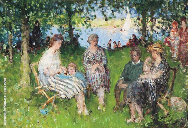 The Artist's Family Painting By Pierre Eugene Montezin