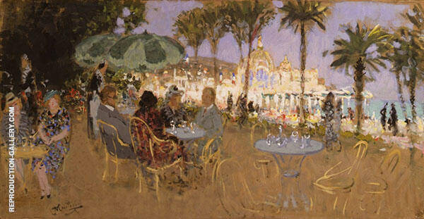 The Casino of Nice Painting By Pierre Eugene Montezin