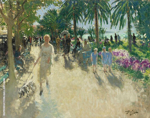 The Croisette Cannes Painting By Pierre Eugene Montezin