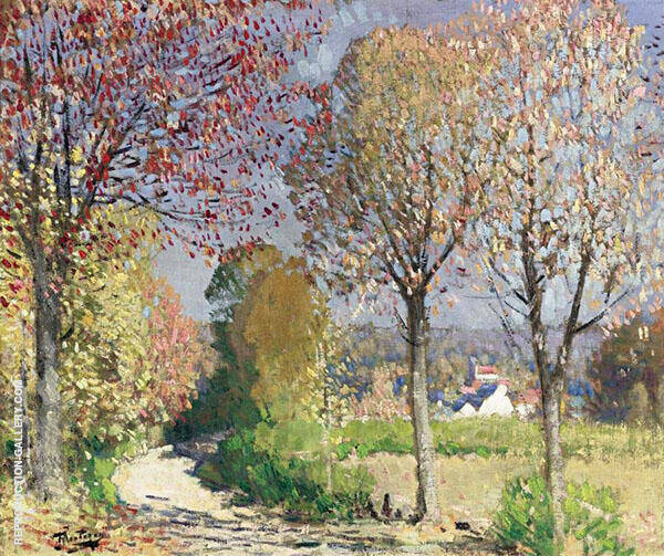 The Road Painting By Pierre Eugene Montezin - Reproduction Gallery