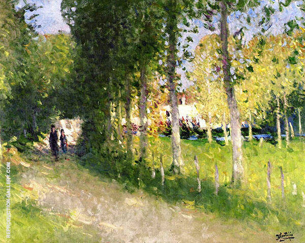 The Stroll Painting By Pierre Eugene Montezin - Reproduction Gallery