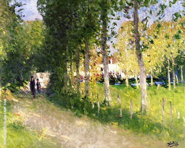 The Stroll By Pierre Eugene Montezin