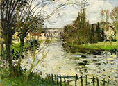 Village at The Bank of The River By Pierre Eugene Montezin