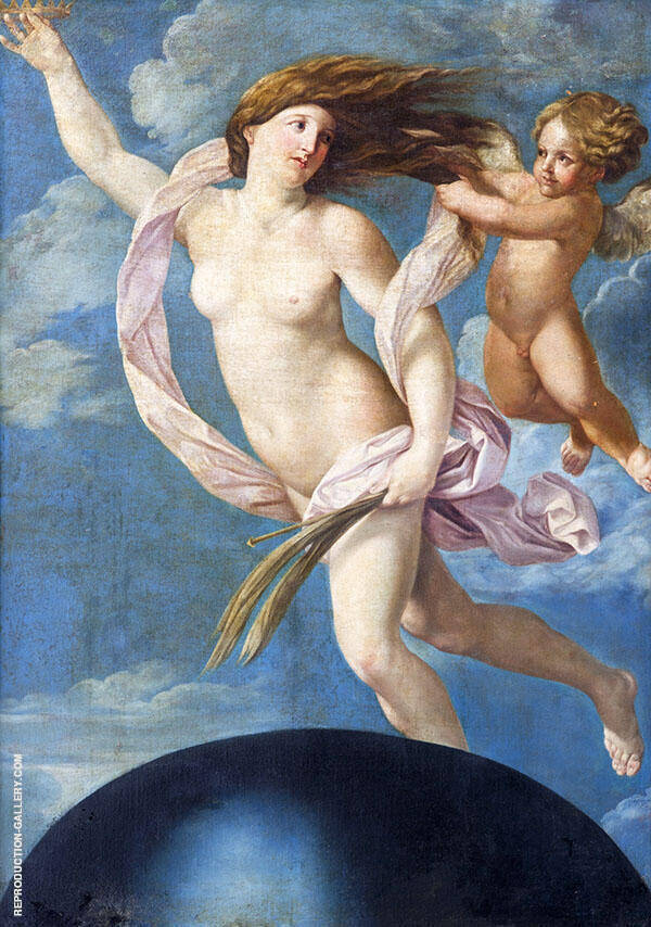 Fortuna with a Crown 1637 By Guido Reni