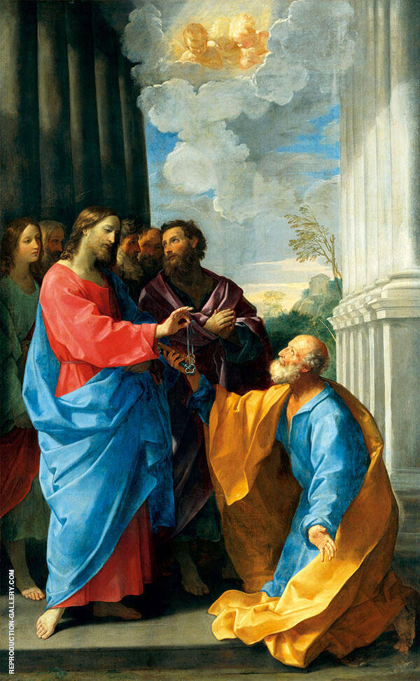 Christ Giving The Keys to St.Peter 1626 By Guido Reni