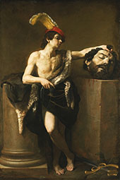 David with The Head of Goliath 1605 By Guido Reni