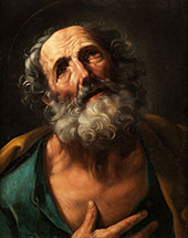 The Repentant Saint Peter By Guido Reni