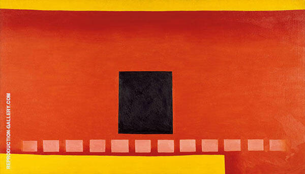 Black Door with Red 1954 Painting By Georgia O'Keeffe