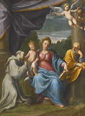 Holy Family with Saint Francis By Guido Reni
