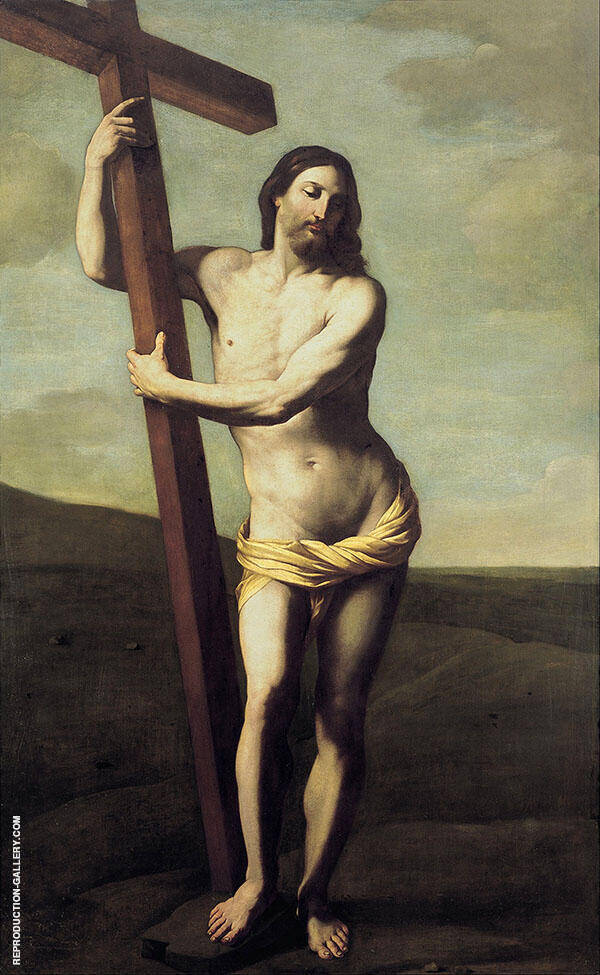 Jesus Christ with The Cross 1621 By Guido Reni