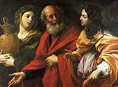Lot and his Daughters By Guido Reni