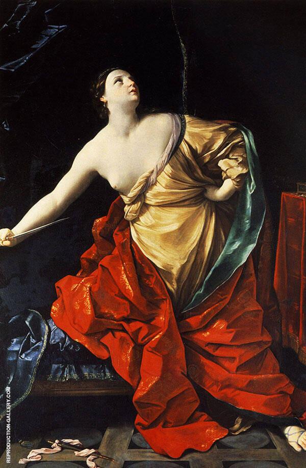 Lucretia 1626 By Guido Reni