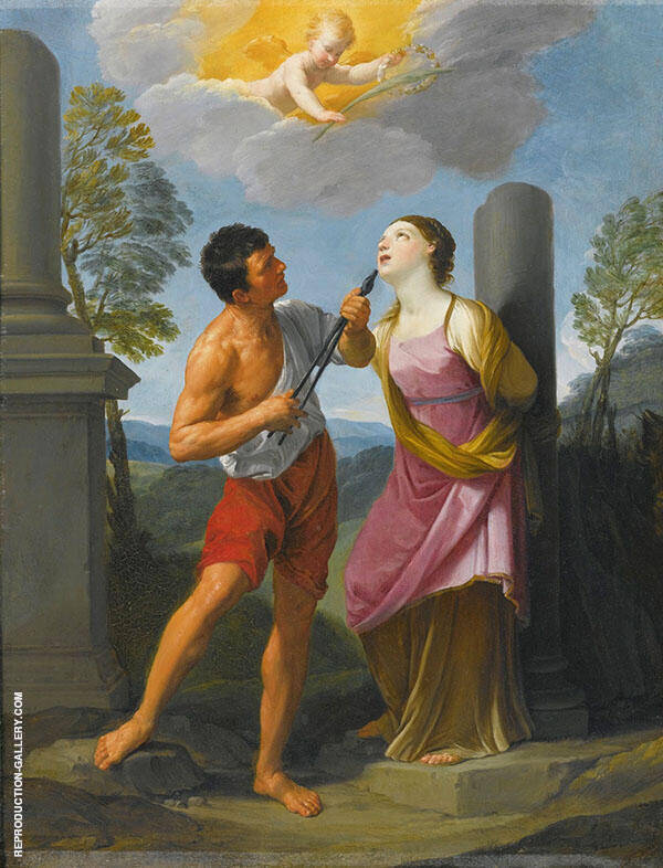 Saint Apollonia 1799 Painting By Guido Reni - Reproduction Gallery