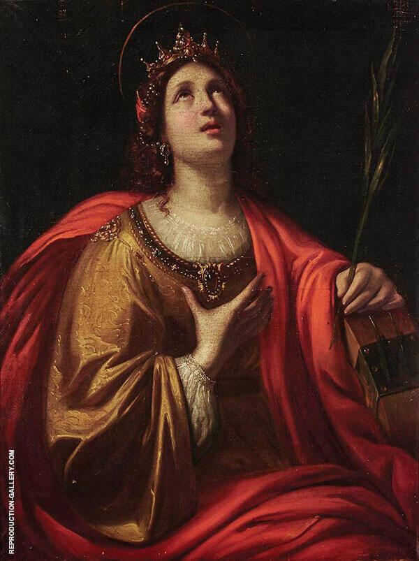 Saint Catherine of Alexandria Painting By Guido Reni