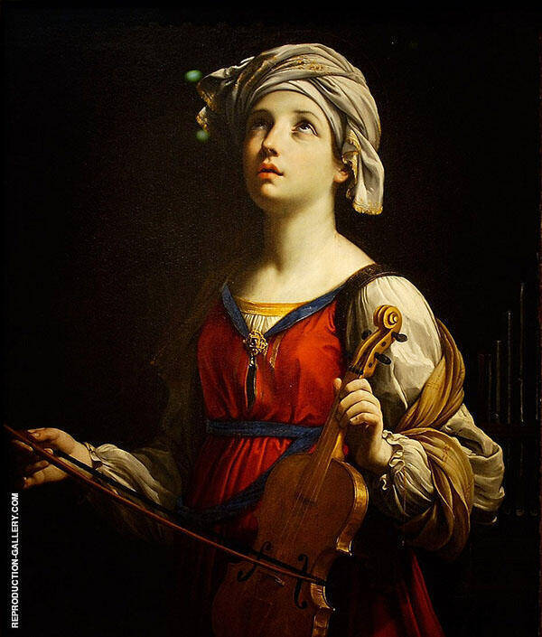 Saint Cecilia 1606 Painting By Guido Reni - Reproduction Gallery