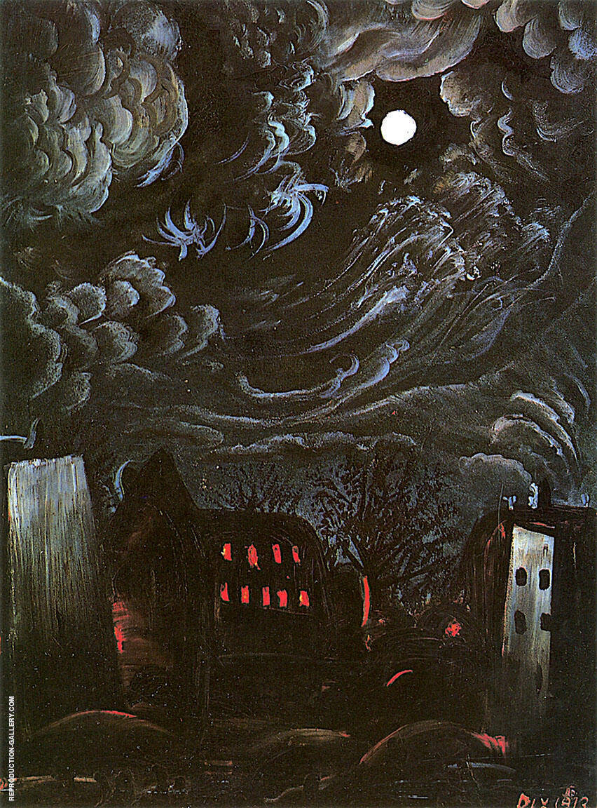 Night Over the City Painting By Otto Dix - Reproduction Gallery