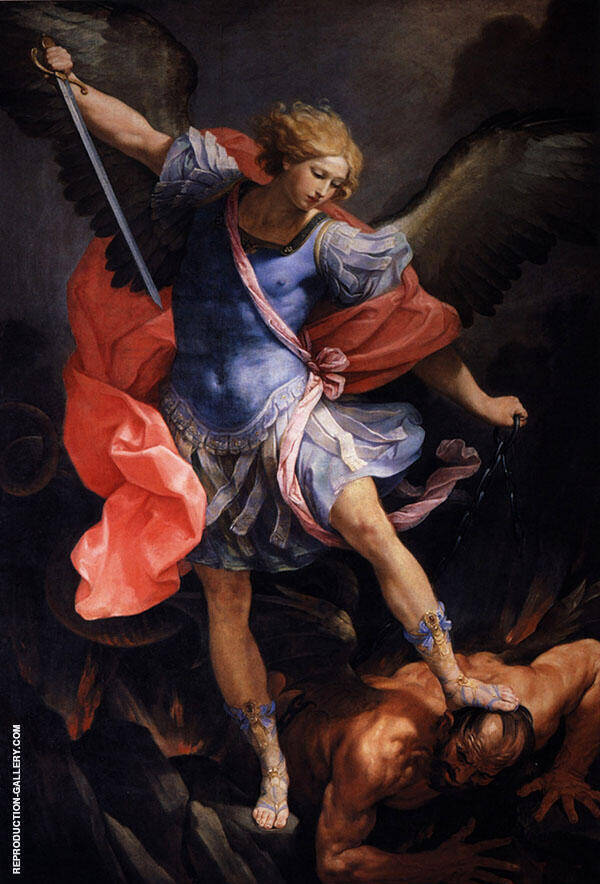 Saint Michael Defeats Satan By Guido Reni