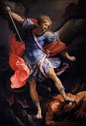Saint Michael Defeats Satan By Guido Reni