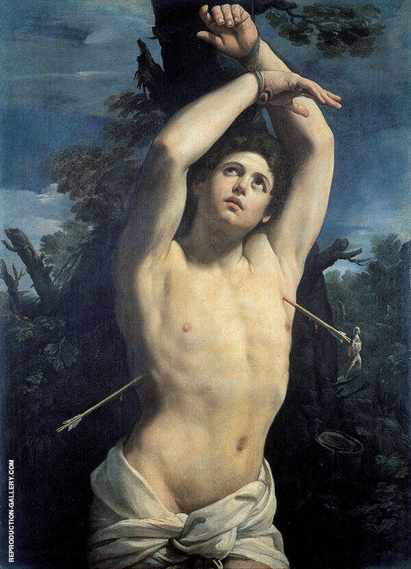 Saint Sebastian 1615 Painting By Guido Reni - Reproduction Gallery
