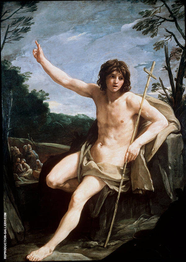 St John The Baptist in The Wilderness 1636 By Guido Reni