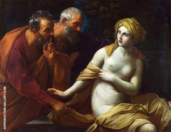Susannah and The Elders Painting By Guido Reni - Reproduction Gallery