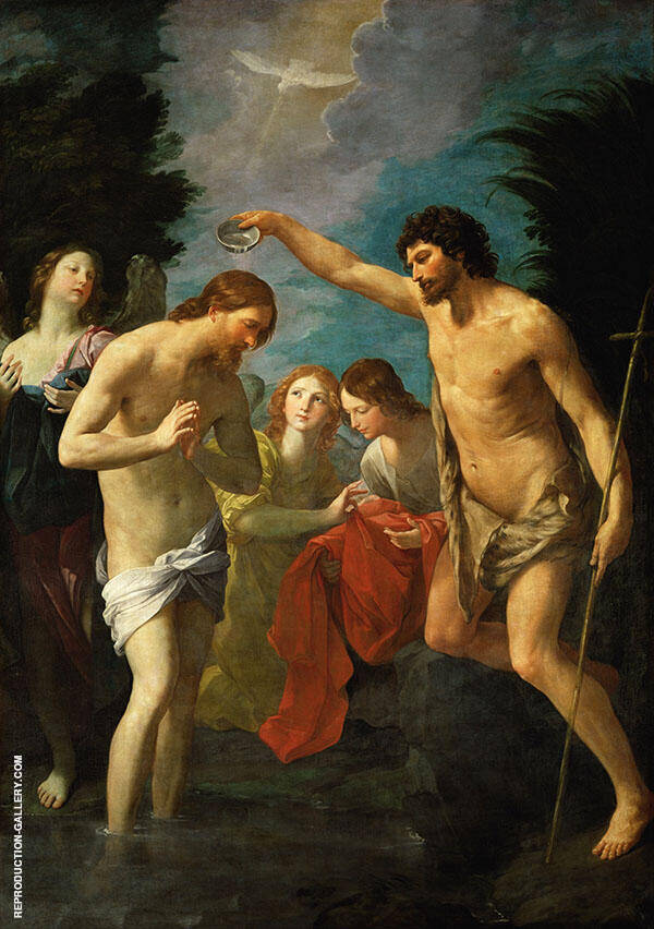 The Baptism of Christ 1622 Painting By Guido Reni - Reproduction Gallery