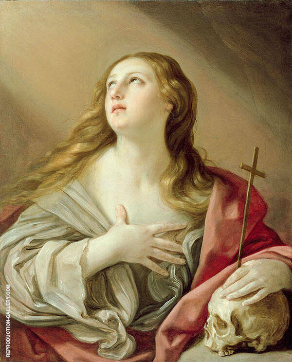 The Penitant Magdalene Painting By Guido Reni - Reproduction Gallery