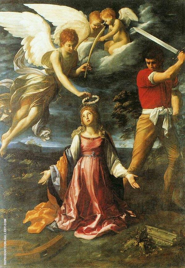 The Martyrdom of Saint Catherine of Alexandria 1604 Painting By Guido Reni