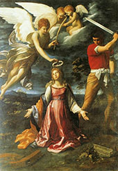 The Martyrdom of Saint Catherine of Alexandria 1604 By Guido Reni