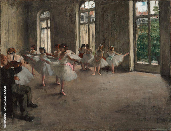 The Rehearsal c 1873 By Edgar Degas