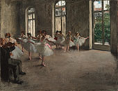 The Rehearsal c 1873 By Edgar Degas
