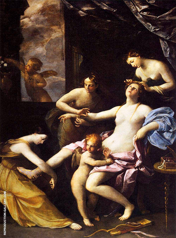 The Toilet of Venus Painting By Guido Reni - Reproduction Gallery
