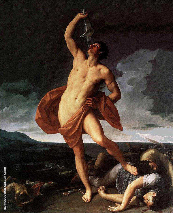 Triumph of Samson Painting By Guido Reni - Reproduction Gallery