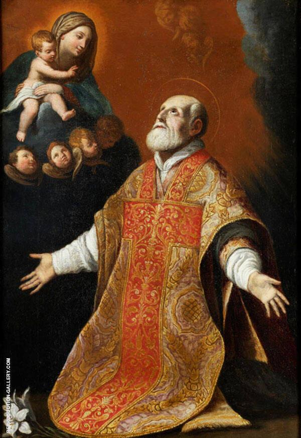 Vision des Heiligen Philipp Neri Painting By Guido Reni