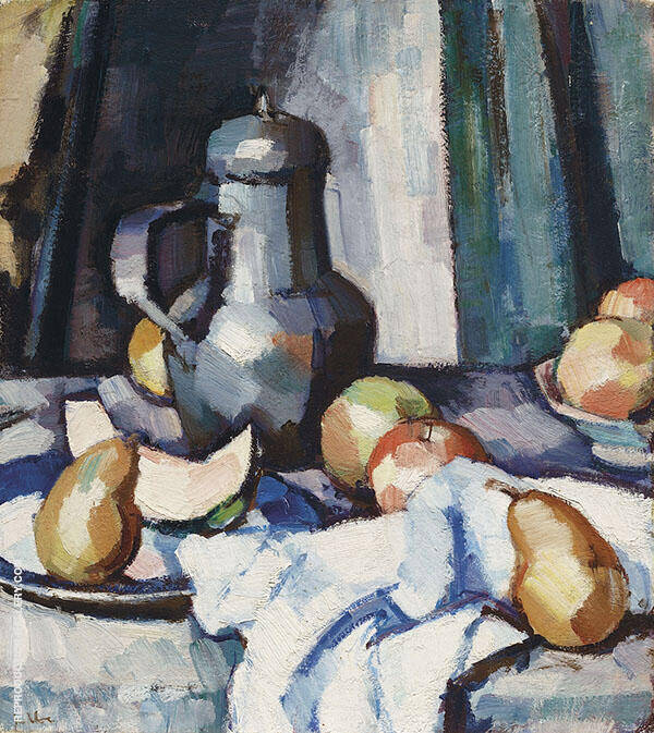 Apples and Pewter Pot 1920 By Samuel John Peploe