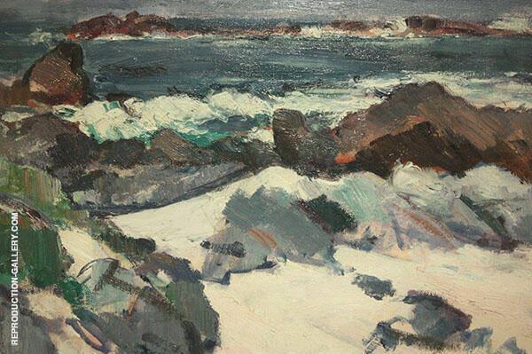 A Rocky Shore Lona By Samuel John Peploe