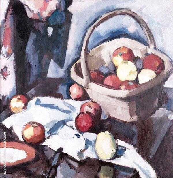Basket and Apples By Samuel John Peploe