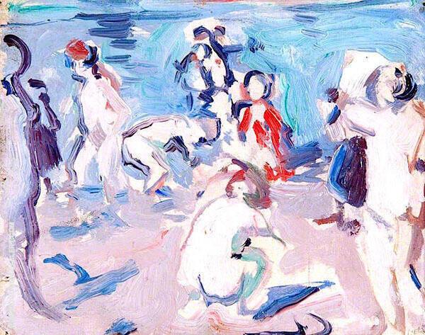 Bathers 1906 By Samuel John Peploe