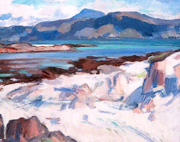 Ben More from Martyrs Bay Iona 1925 By Samuel John Peploe