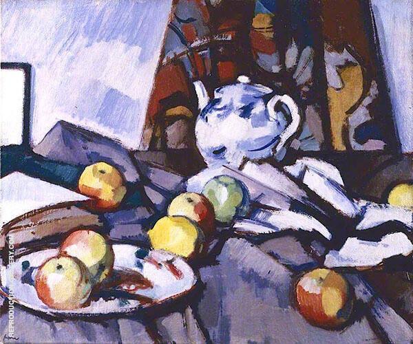 Blue and White Teapot 1917 By Samuel John Peploe