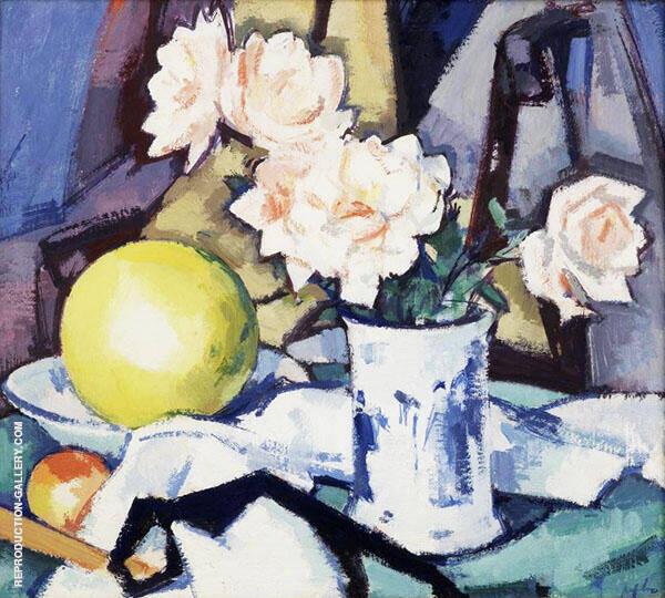 Blue and White Vase By Samuel John Peploe