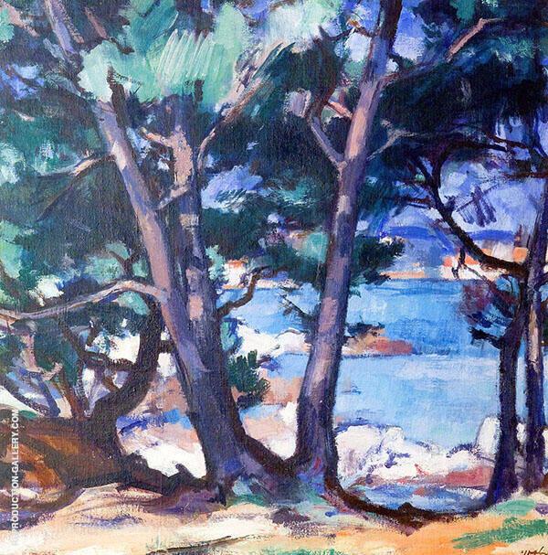 Blue Water Antibes 1928 By Samuel John Peploe